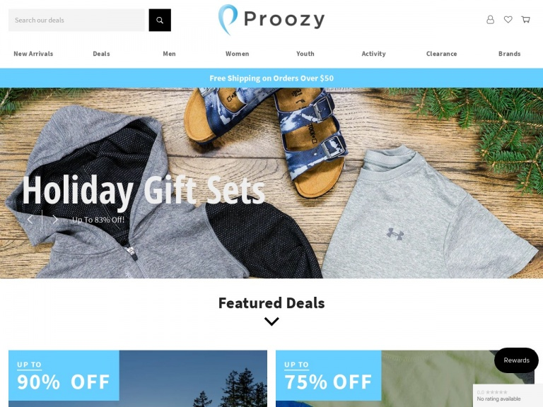 Proozy-Reebok Collection: Up to 90% Off + Free Shipping