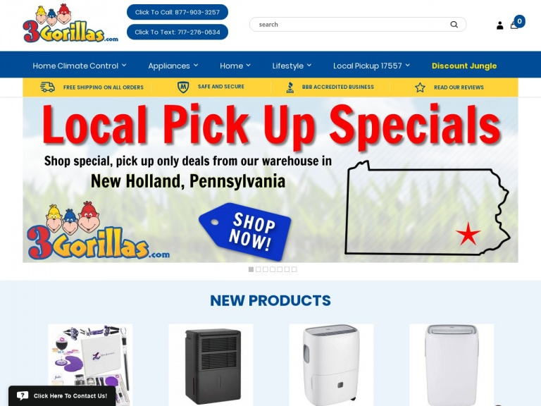 3Gorillas.com-Up to 52% off Portable Air Conditioners + Free Shipping