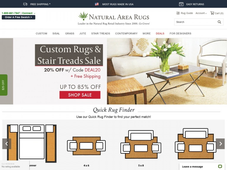 Natural Area Rugs-20% OFF All Sisal Rugs (Custom Rugs & Ready To Ship) Exclusive for ShareASale