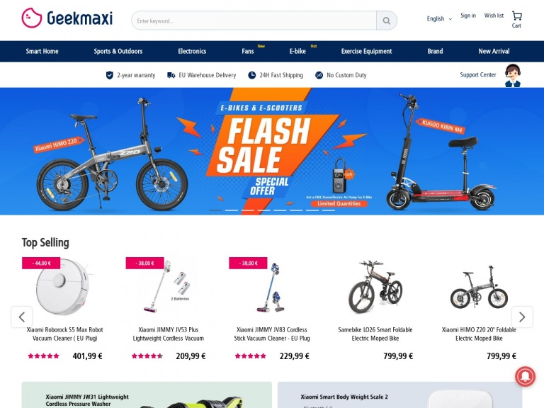 GEEKMAXI.COM-1 208,63 € for LANKELEISI XT750 Plus Foldable Electric Bike Bicycle – 12.8AH Power Lithium Battery