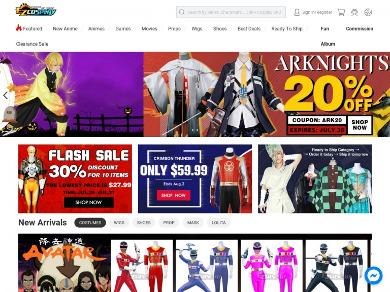 Ezcosplay-8% Off sitewide on www.ezcosplay.com