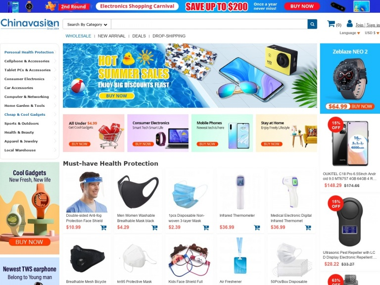Chinavasion Wholesale Electronics & Gadgets-Apparel & Jewelry 12% Off