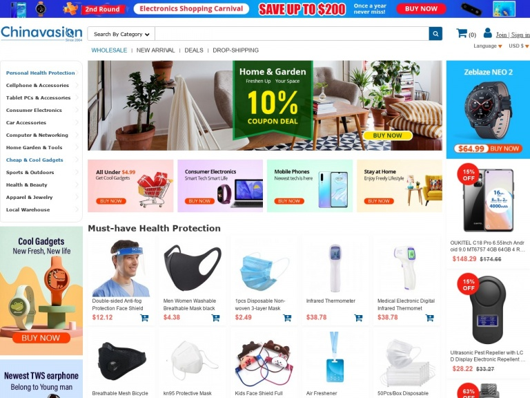 Chinavasion Wholesale Electronics & Gadgets-Personal Health Protection 10% Off