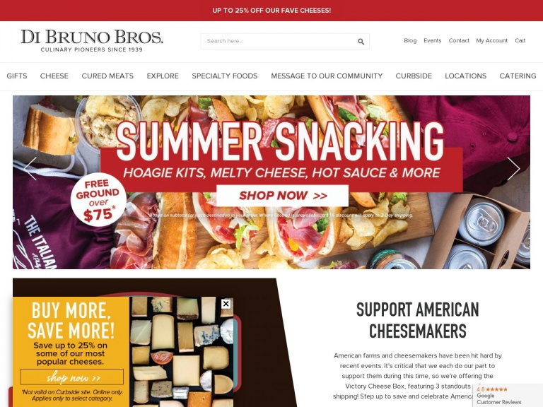 Di Bruno Bros-Free Ground Shipping over $75 Generic Gifts