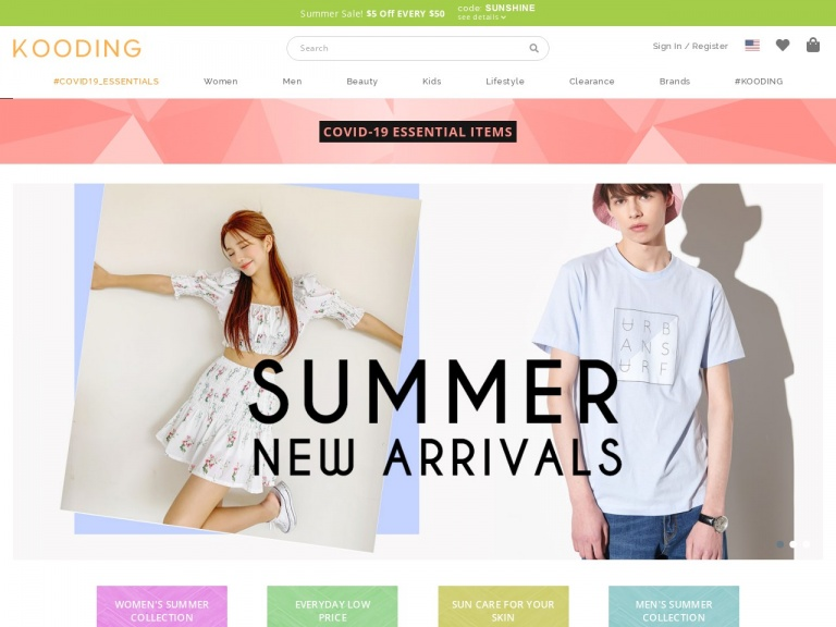 KOODING, Inc.-Get 10% Off On Orders Over $69! Use Code: JULY4