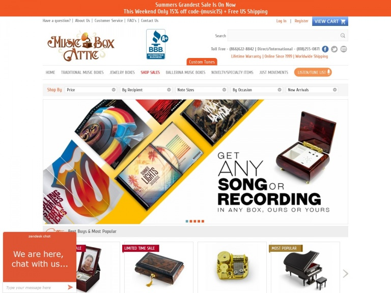 Music Box Attic-Get 12% off the best-selling 18 Note Mechanical Movement with code MUSIC12