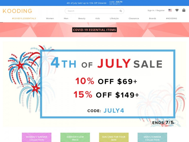 KOODING, Inc.-Get 15% Off On Orders Over $149! Use Code: JULY4