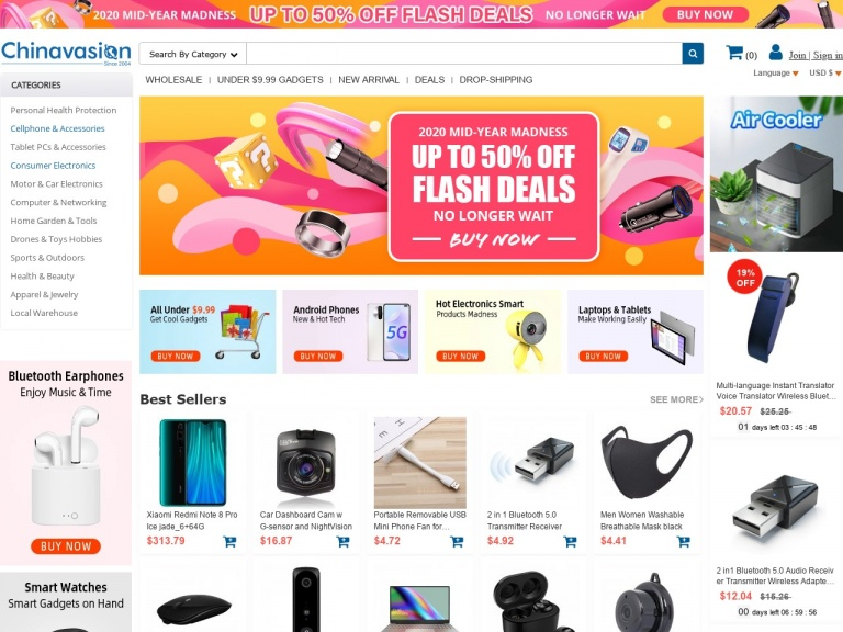 Chinavasion Wholesale Electronics & Gadgets-Drones & Toys Hobbies 8% Off Coupon Deal