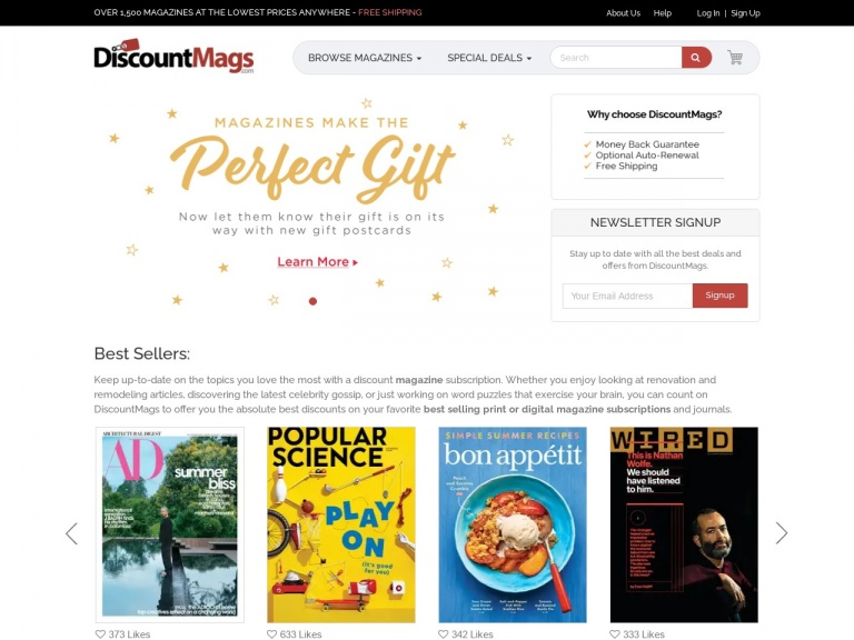 Discountmags.com-Multi-Year Magazine Sale at DiscountMags.com! Pay what we pay on our top selling titles! Shop Now