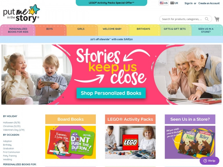 Put Me In The Story-Save 10% – New Customer Welcome