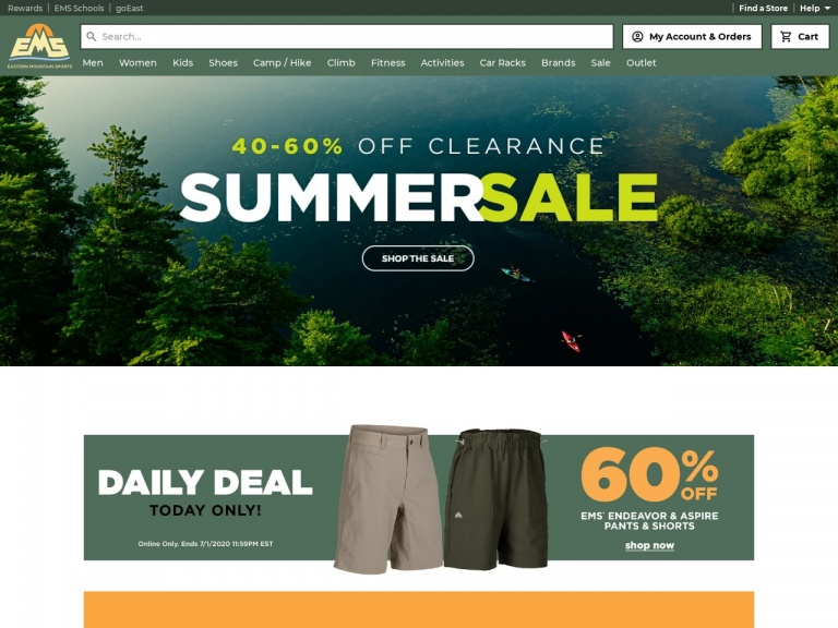 Eastern Mountain Sports-Shop Quality Camping and Hiking Gear at Eastern Mountain Sports!
