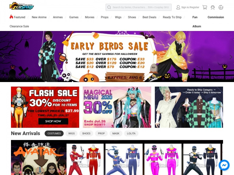 Ezcosplay-Up to 18% off for Halloween Early Birds Sale