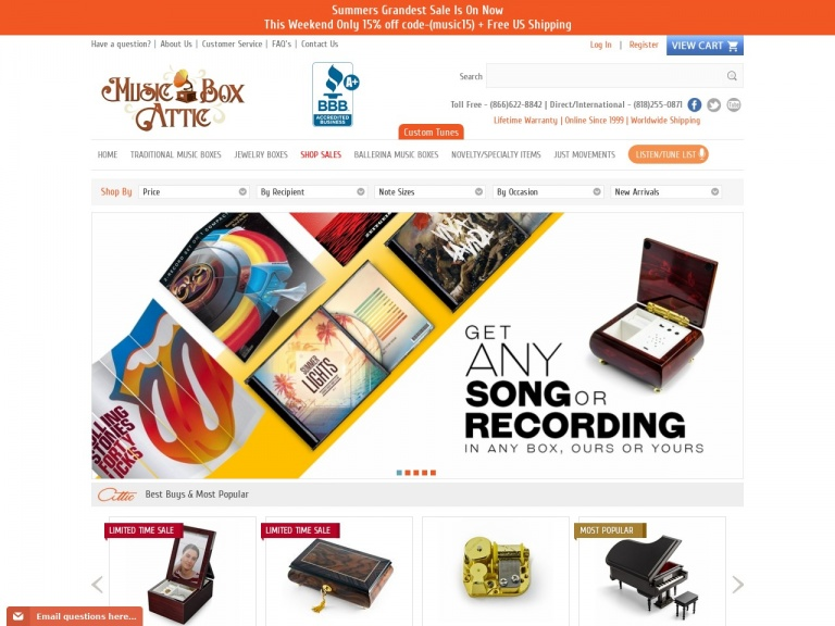 Music Box Attic-Use code MUSIC12 for 12% off our best-selling 18 Note Mechanical Movement