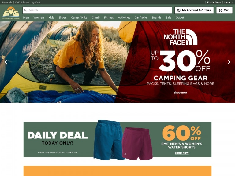 Eastern Mountain Sports-Work Out from Home and Save on Fitness Apparel and Gear at Eastern Mountain Sports!