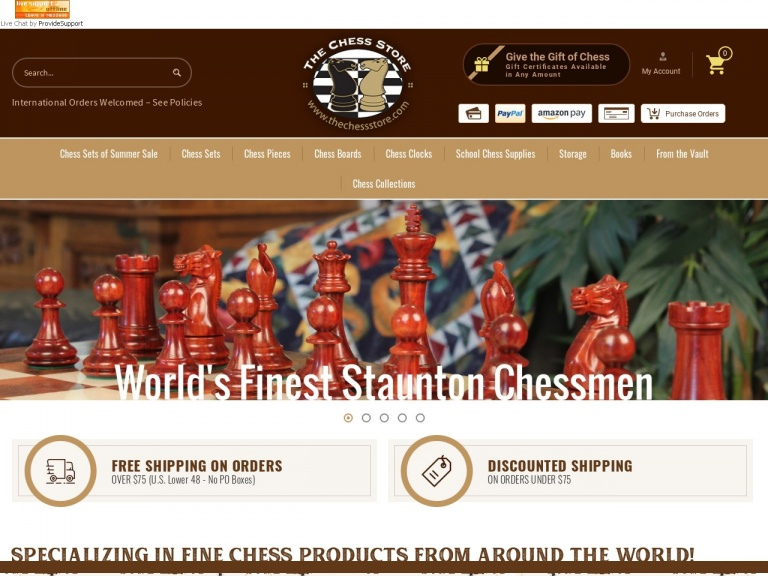 The Chess Store-10% off on all orders