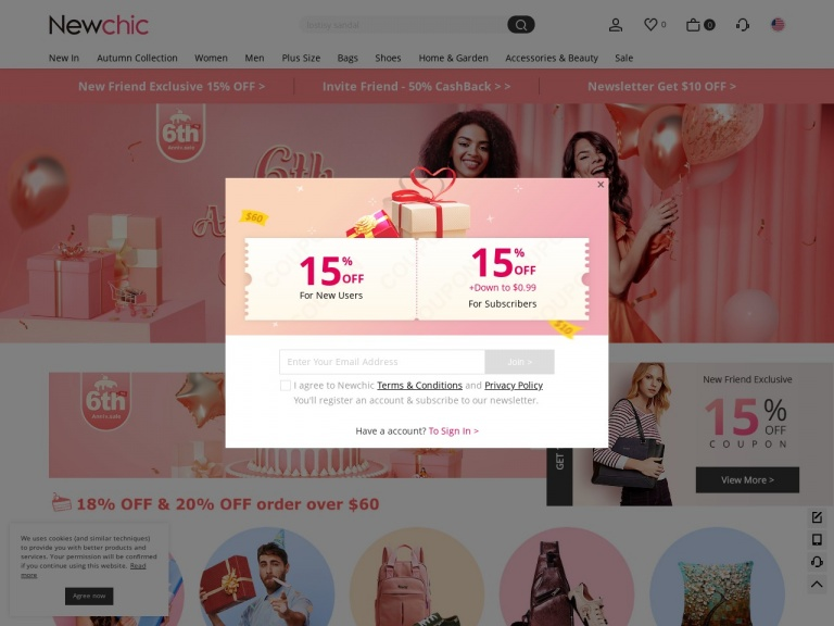 Newchic-20% OFF sitewide