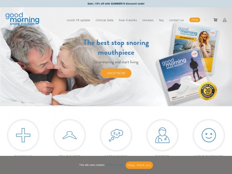 Good Morning Snore Solution®-B2SBOGO: 2020 Back to School Sale