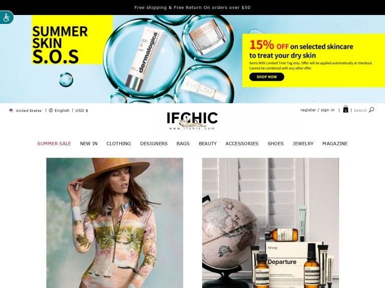 IFCHIC-IFCHIC- Free International Express Delivery for orders above $300