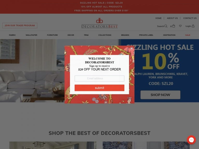 DecoratorsBest-Save $15 on orders of $100 or more with code FIRST15