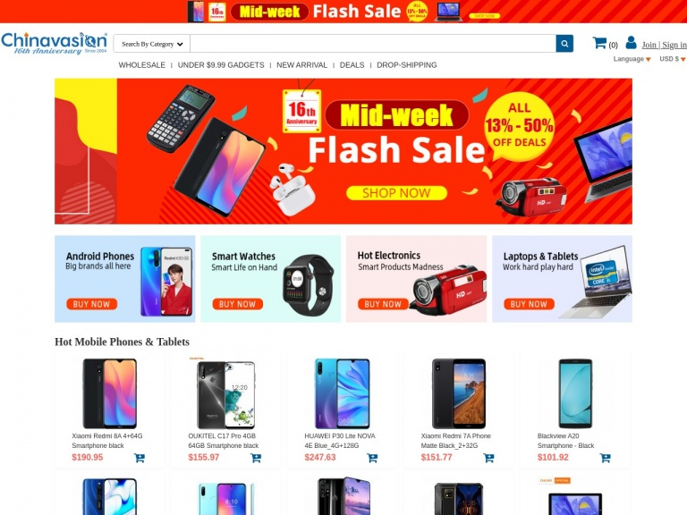 Chinavasion Wholesale Electronics & Gadgets-Consumer Electronics 8% Off Coupon Deal