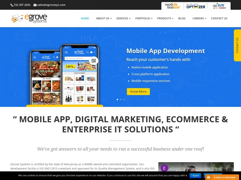 eGrove Systems Corporation-Elite mCommerce | Grocery Mobile App
