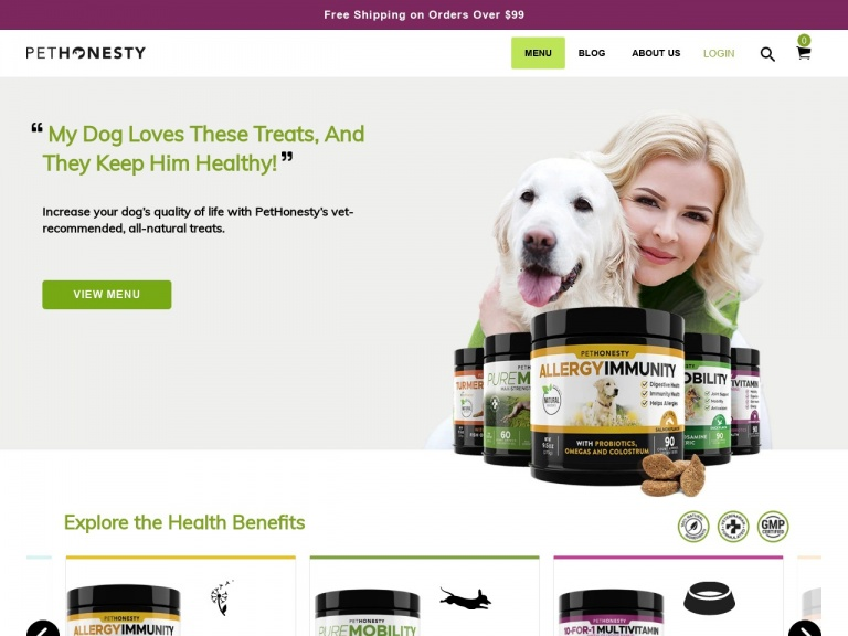 PetHonesty-Free Jar on Purchases $99+ for National Dog Week