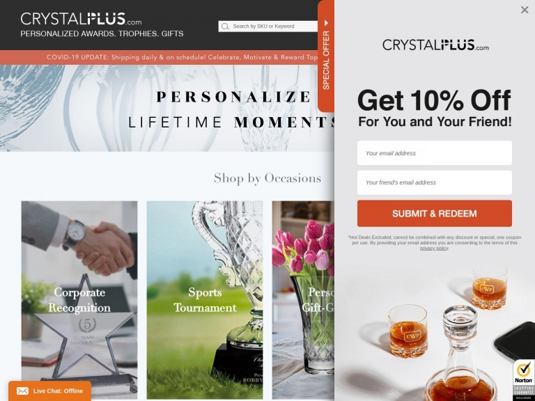 """Crystal Plus-Get 15% off on orders $99+ now! Use Code """"CP150920"""""""