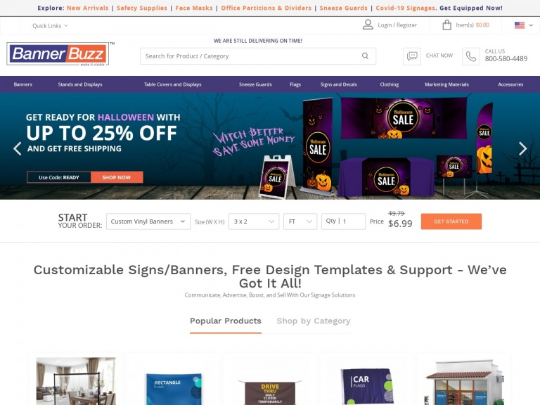 BannerBuzz.com-Get Your Business Ready for Halloween! Shop Up to 25% Off BannerBuzz.com with Code: READY – Sale Ends on 9/30!