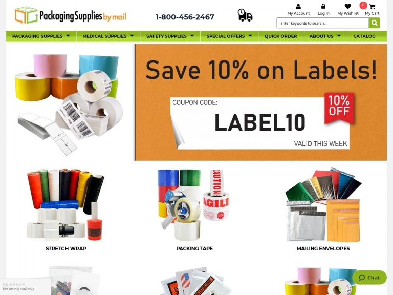 Packaging Material Direct, Inc-Labor Day Sale! Enjoy 10% Savings on ALL Products
