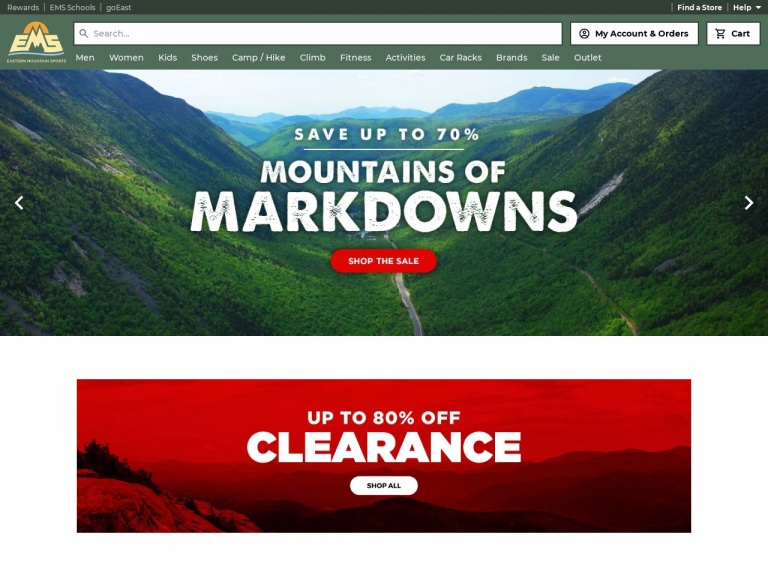Eastern Mountain Sports-Save 70 – 80% on Eastern Mountain Sports Best Deals and Shop While Supplies Last!
