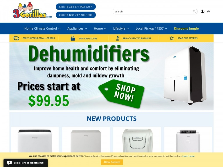 3Gorillas.com-Danby Premiere 70 Pint Energy Star Dehumidifier with Pump = 40% off + Free Shipping