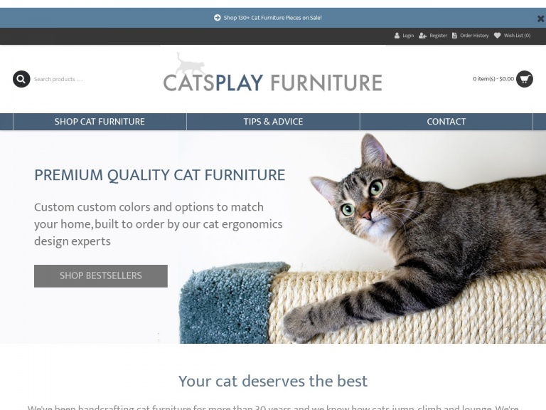 CatsPlay.com Cat Furniture-Save $10 on the Cat Maze Wall Mounted Cat Perch and System