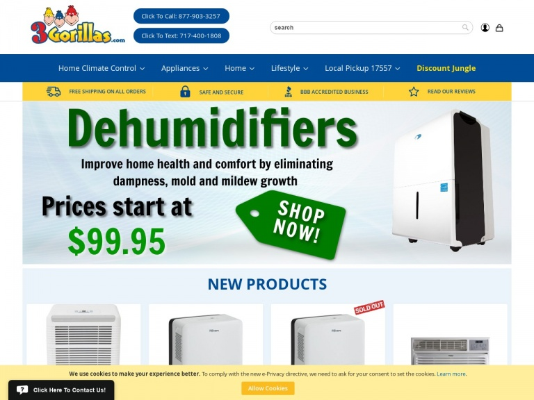 3Gorillas.com-Up to 43% off Portable Air Conditioners + Free Shipping