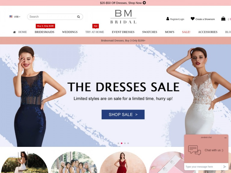 BM BRIDAL CO.,INC-$14 OFF $149