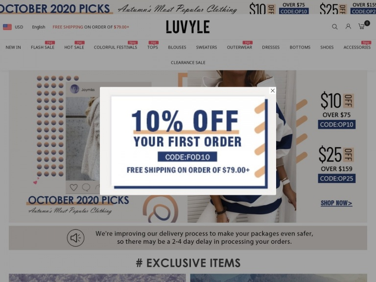 Luvyle Inc-15% Off Any Order Over $99 at Luvyle.com, Code: single15