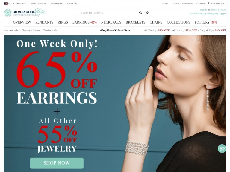 SilverRushStyle-All Earrings 65% OFF & and all Other Jewelry 55% OFF