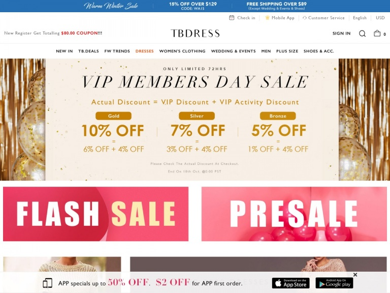 TBDress.com-Super Saturday Sale $12 Off Over $119, Code:SSS12 Free Shipping Over $89 (Except Wedding&Events&Shoes)