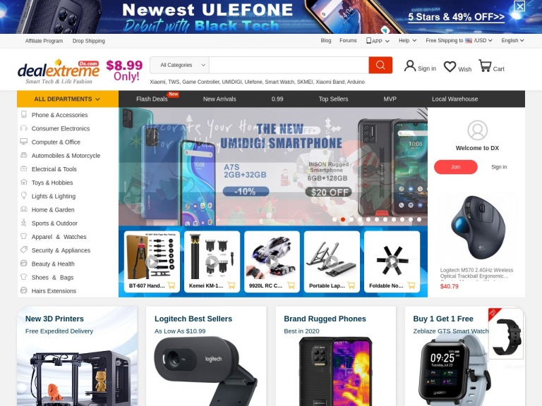 DealExtreme-$1 off over $25