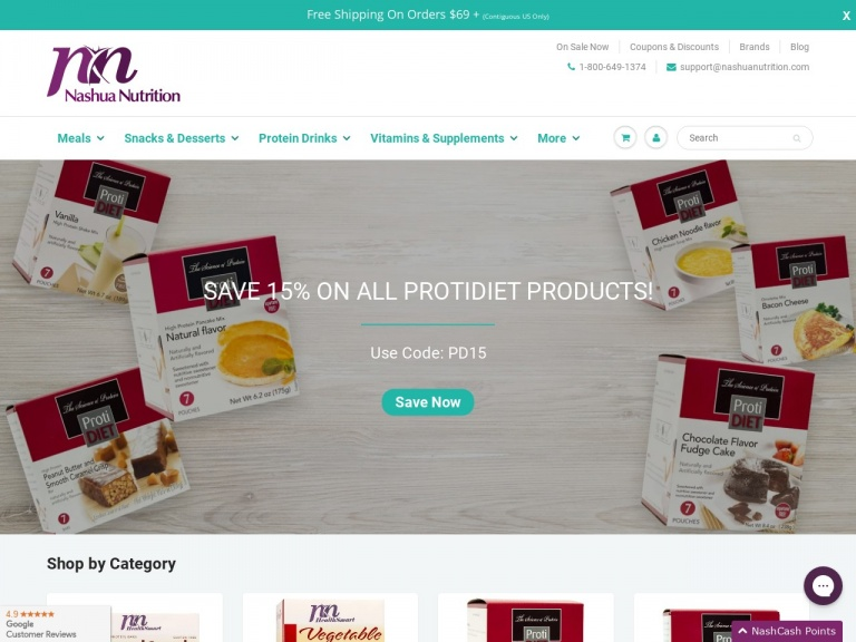 Nashua Nutrition-15% OFF All ProtiDiet Products at NashuaNutrition.com