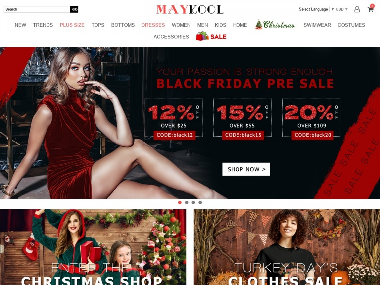 MAYKOOL Int'l Group.LLC-Black Friday Pre Sale 20% off over $109