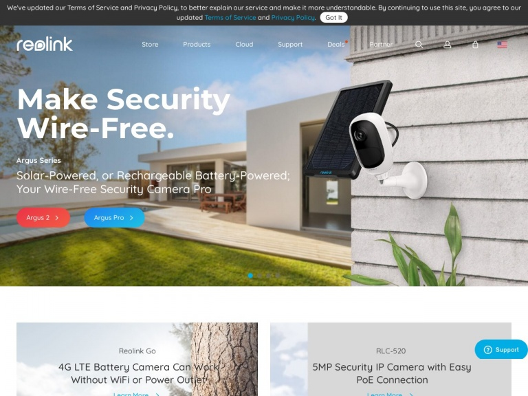 EZCloud Innovation Limited-Was 15%,Now 20% OFF Argus Pro/Argus Pro+SP/Argus Pro 2 Pack Wire-Free Rechargeable Battery Security Camera