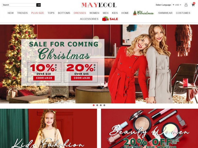 MAYKOOL Int'l Group.LLC-20% Off $45+ Sale On All Clothing