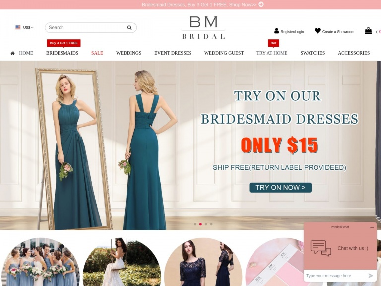BM BRIDAL CO.,INC-$6 OFF $99