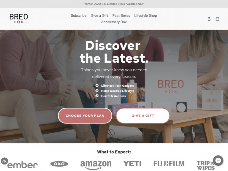 Breo Box-35% Off All Lifestyle Shop Products & Past Boxes