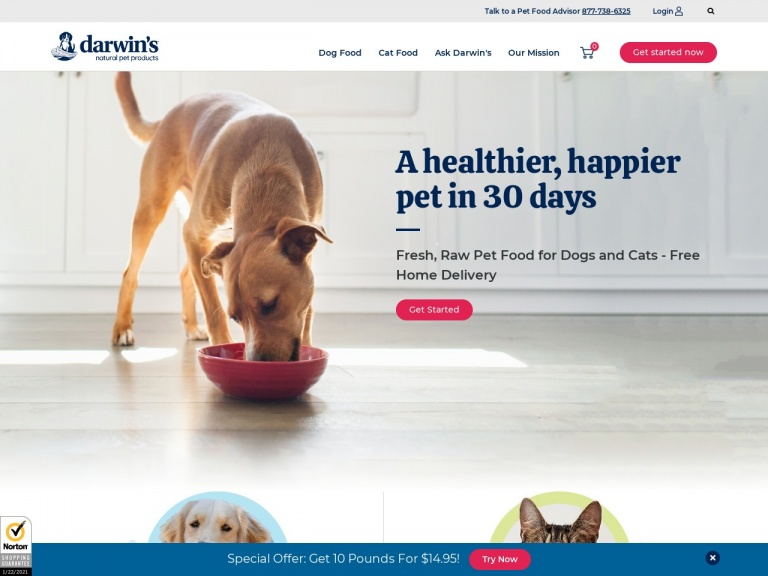 Darwin's Natural Pet Products-Free Shipping for New Customers!
