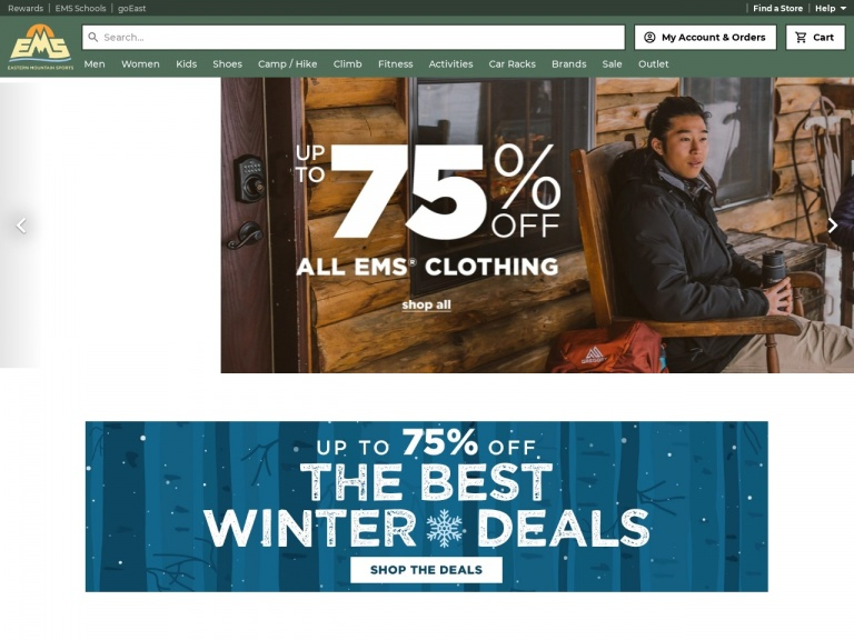 Eastern Mountain Sports-Save up to 75% Off The Best Winter Deals at Eastern Mountain Sports!