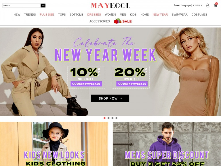 MAYKOOL Int'l Group.LLC-New Year First Month 10% Off Sitewide