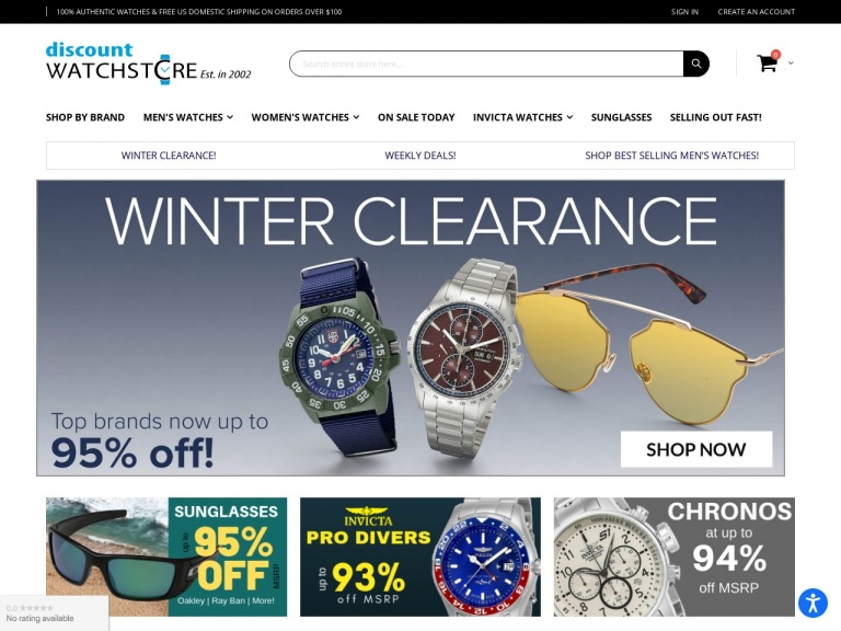 DiscountWatchStore.com-Swiss Watch Blowout – Save up to 80% Off on Swiss TAG, Glycine, Victorinox and more at the DiscountWatchStore.com. Limited Time Offer!