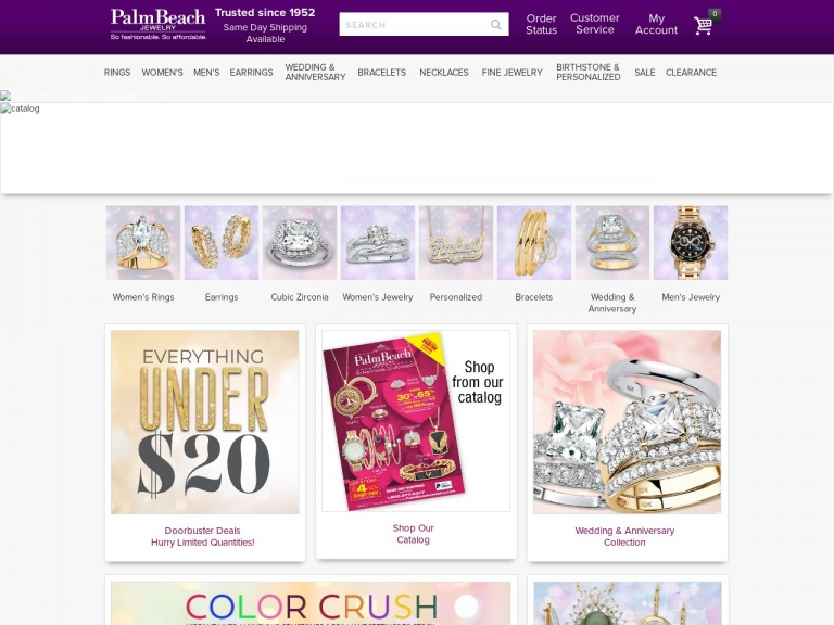 PalmBeach Jewelry-$35 OFF + FREE SHIPPING on Orders $75+ at PalmBeachJewelry.com. Use code SHOP35 to save. Valid 3/8-3/14 only.
