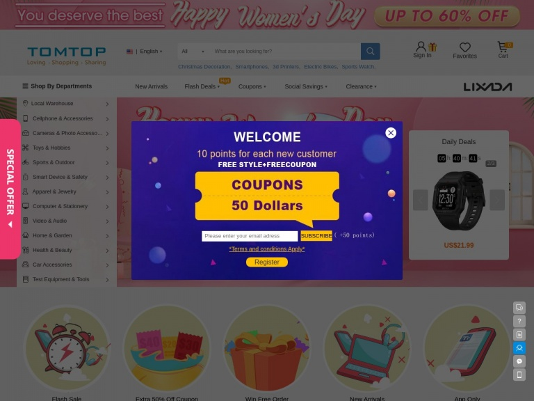 TOMTOP Technology Co., Ltd-$40 OFF for Orders Over $500